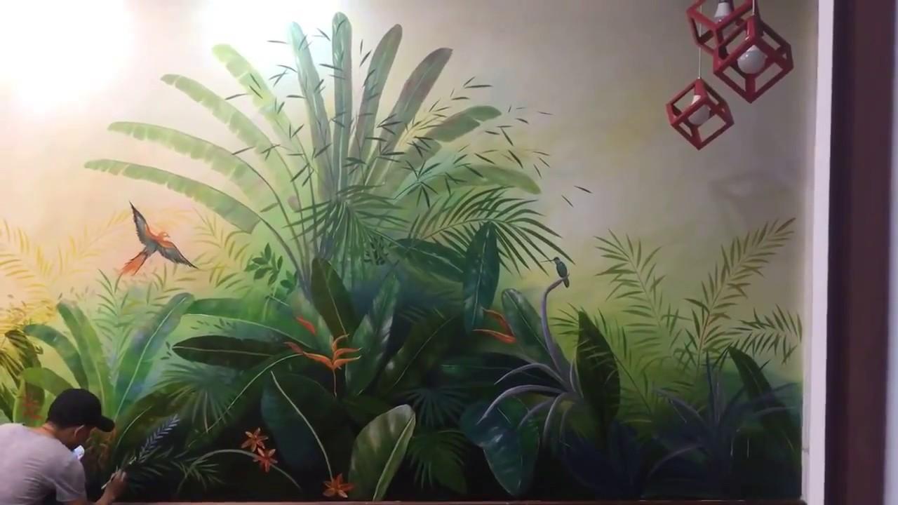 Vẽ Tranh Tường Phòng Khách- Kiến Việt Decor