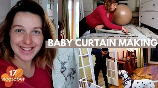 MAKING CURTAINS FOR BABY'S ROOM   VLOGTOBER DAY 17   Rita H & Co.