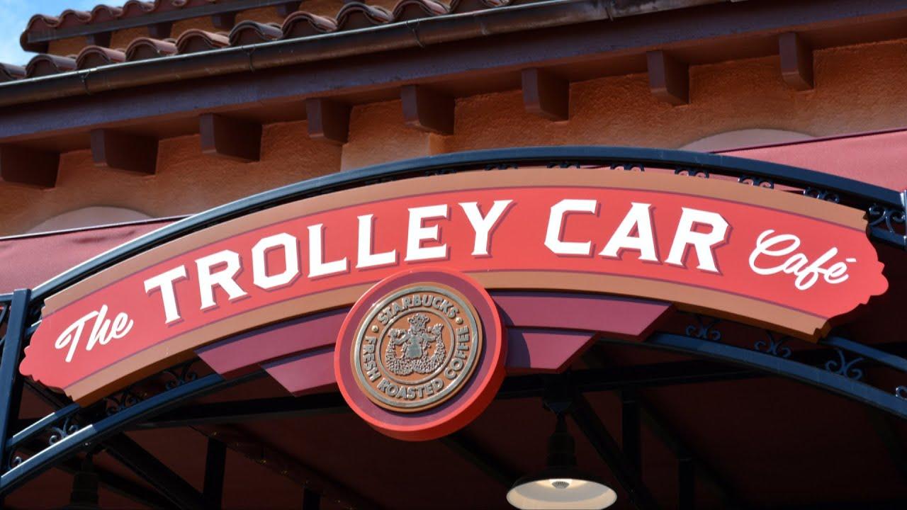 Starbucks Trolley Car Café Detailed Tour At Disney's