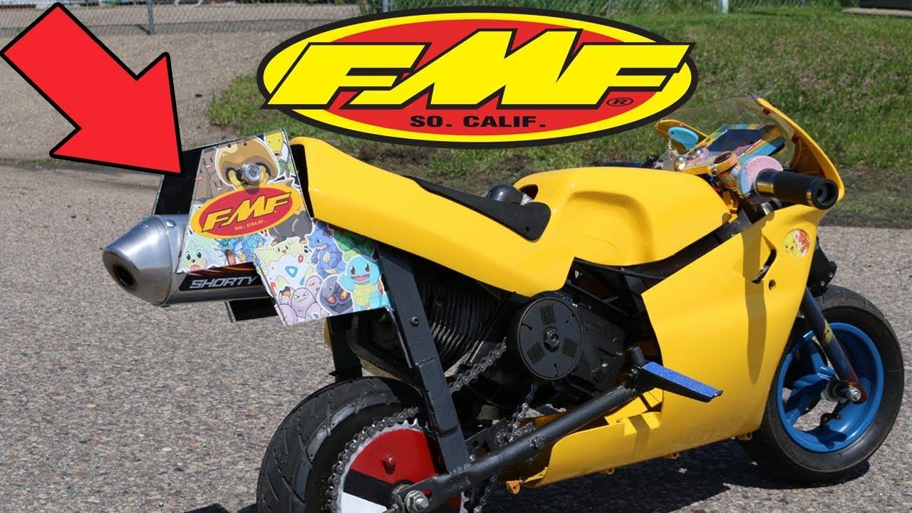 fmf exhaust installed on pocket bike new sounds