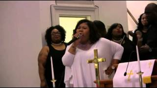 Chrystal Rucker sings for Union Bethel