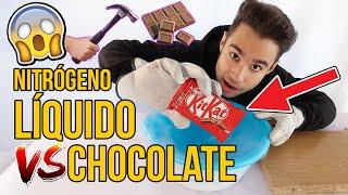 PROBAMOS A METER CHOCOLATES EN NITRÓGENO LÍQUIDO ¿TE ATREVERÍAS A COMERLO? Experimento