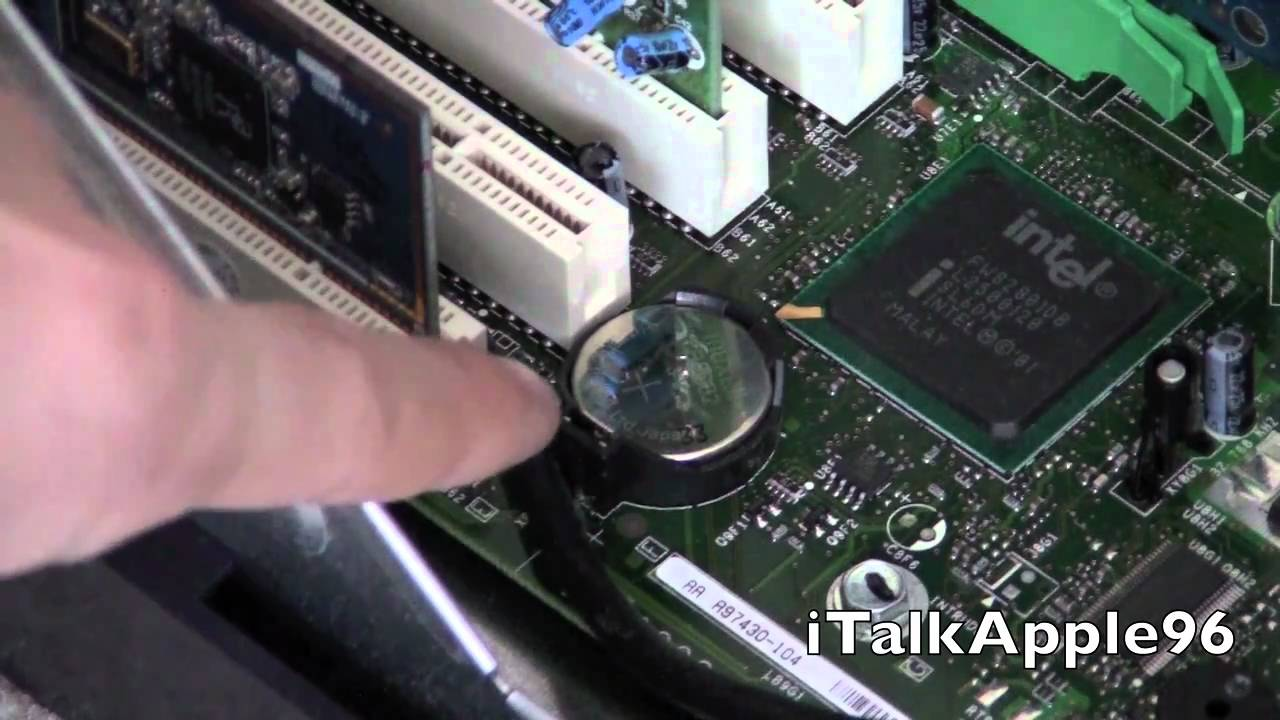 How to change the CMOS battery in your Desktop Computer - YouTube