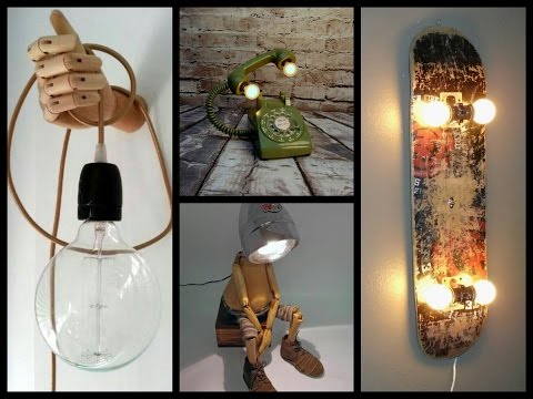 35 Awesome DIY Lamp Ideas - Recycled Crafts Ideas