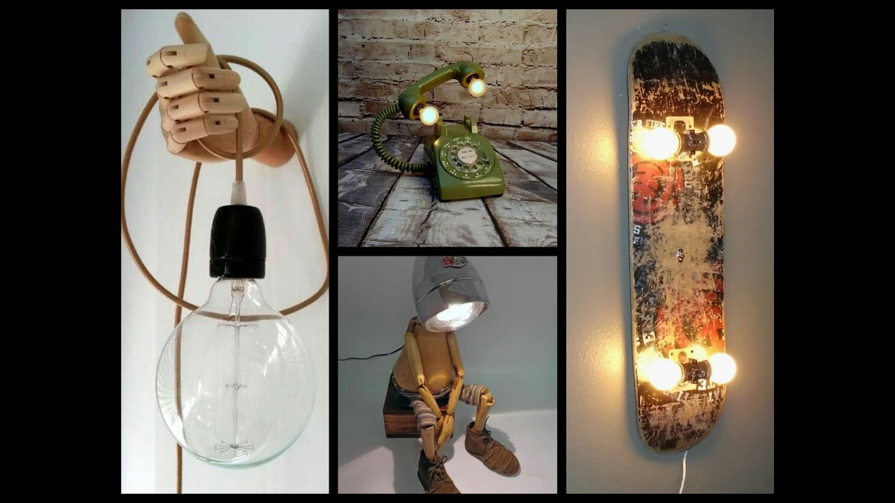 35 Awesome DIY Lamp Ideas - Recycled Crafts Ideas - YouTube