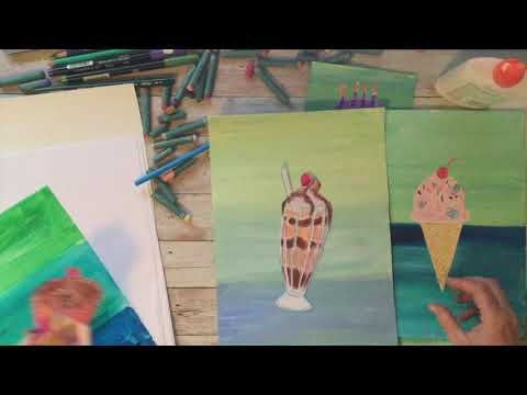 Preview image for Wayne Thiebaud Inspired Dessert Art