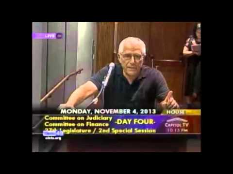 Dean Hamer Testimony in Support of marriage equality bill SB1