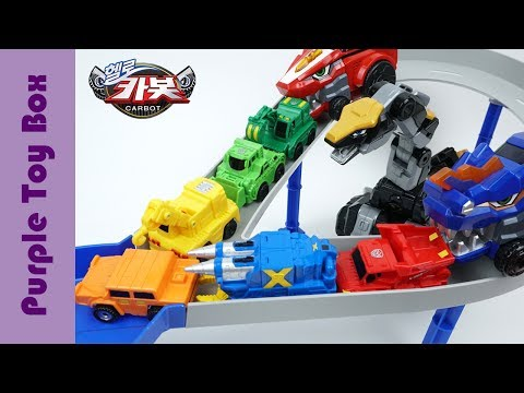 Thumbnail: Carbot Track Car Playset, Hello Carbot Transformer Mini Car Toys
