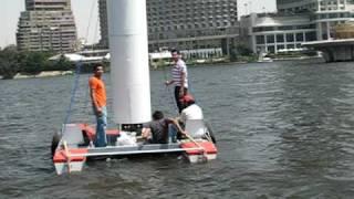 magnus effect boat in nile river 1