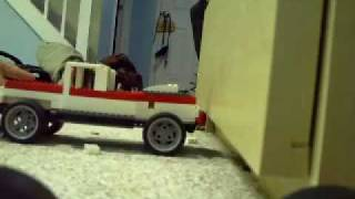 Lego Car Into A Wall (my Dresser)