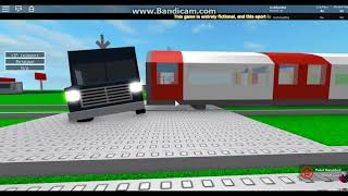 Roblox: Trains Hitting Cars Montage