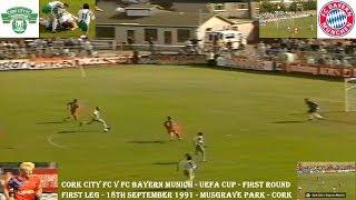 CORK CITY FC V BAYERN MUNICH FC –UEFA CUP 1ST ROUND – FIRST LEG–18TH SEPTEMBER 1991–CORK