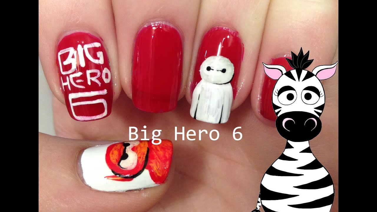 big hero 6 nail art tutorial request