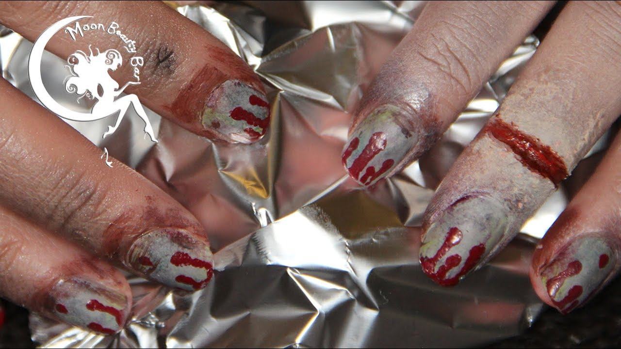 Zombie Nail Art - 2.8 Hours Later - YouTube