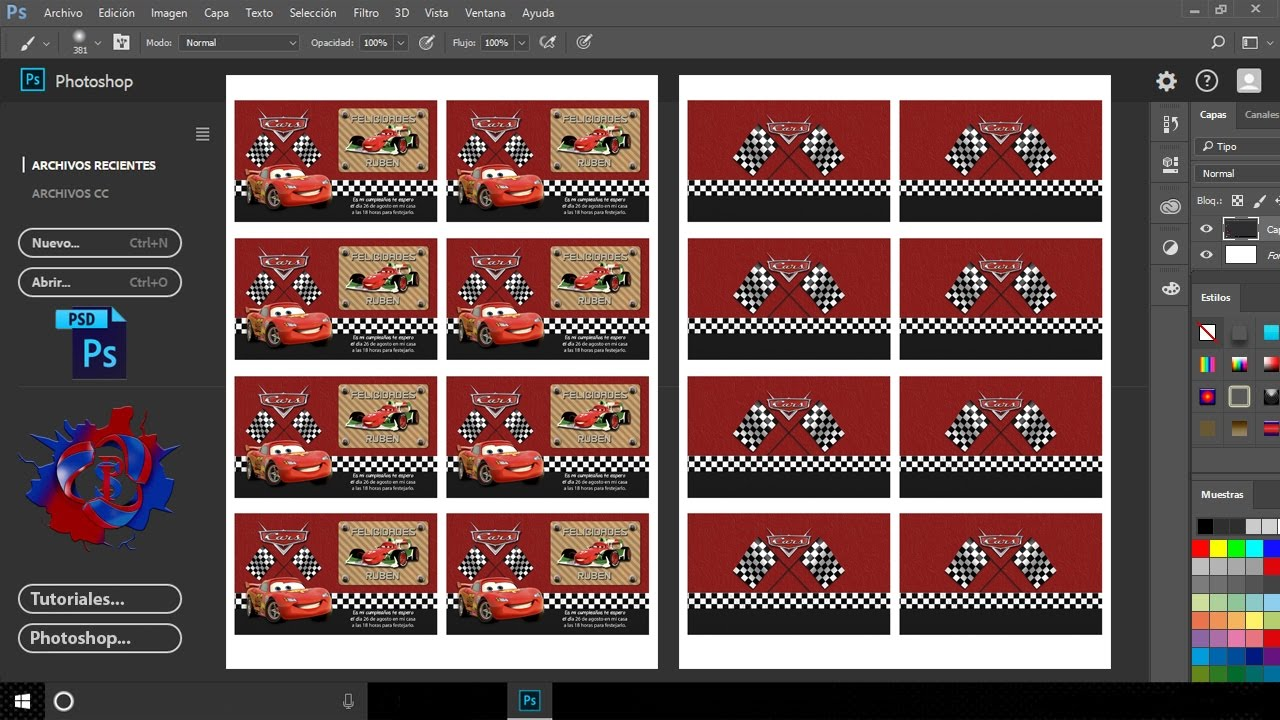 Como Crear Plantilla para Imprimir Tarjetas de Presentación RGB o CMYK con Photoshop