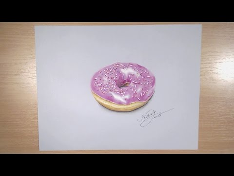 Drawing a realistic donuts – Hyperrealistic art