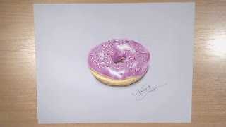 Drawing a realistic donuts - Hyperrealistic art