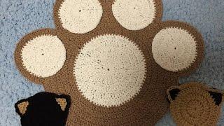 かぎ針編み・猫(=^・^=)も座りたい肉球お座布(円座) 春夏・秋冬リバーシブルcrochet,cutout cushion-Palm of the cat-!