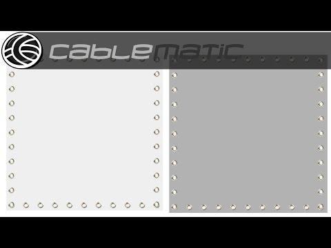 Tela de proyección PVC 1:1 Blanco, Gris o Gris Trasera distribuido por CABLEMATIC ®