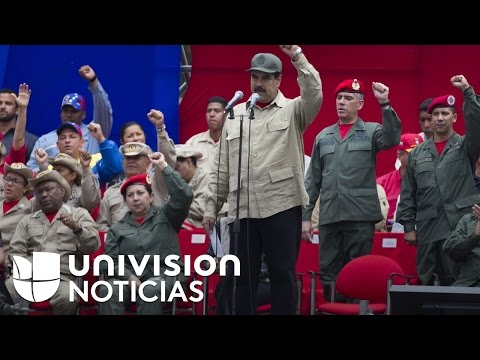 Nicolás Maduro saca a los militares a la calle ante la manifestación programada por la oposición