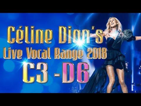 Céline Dion's Live Vocal Range 2018 (C3-D6: 3 Octaves 2)