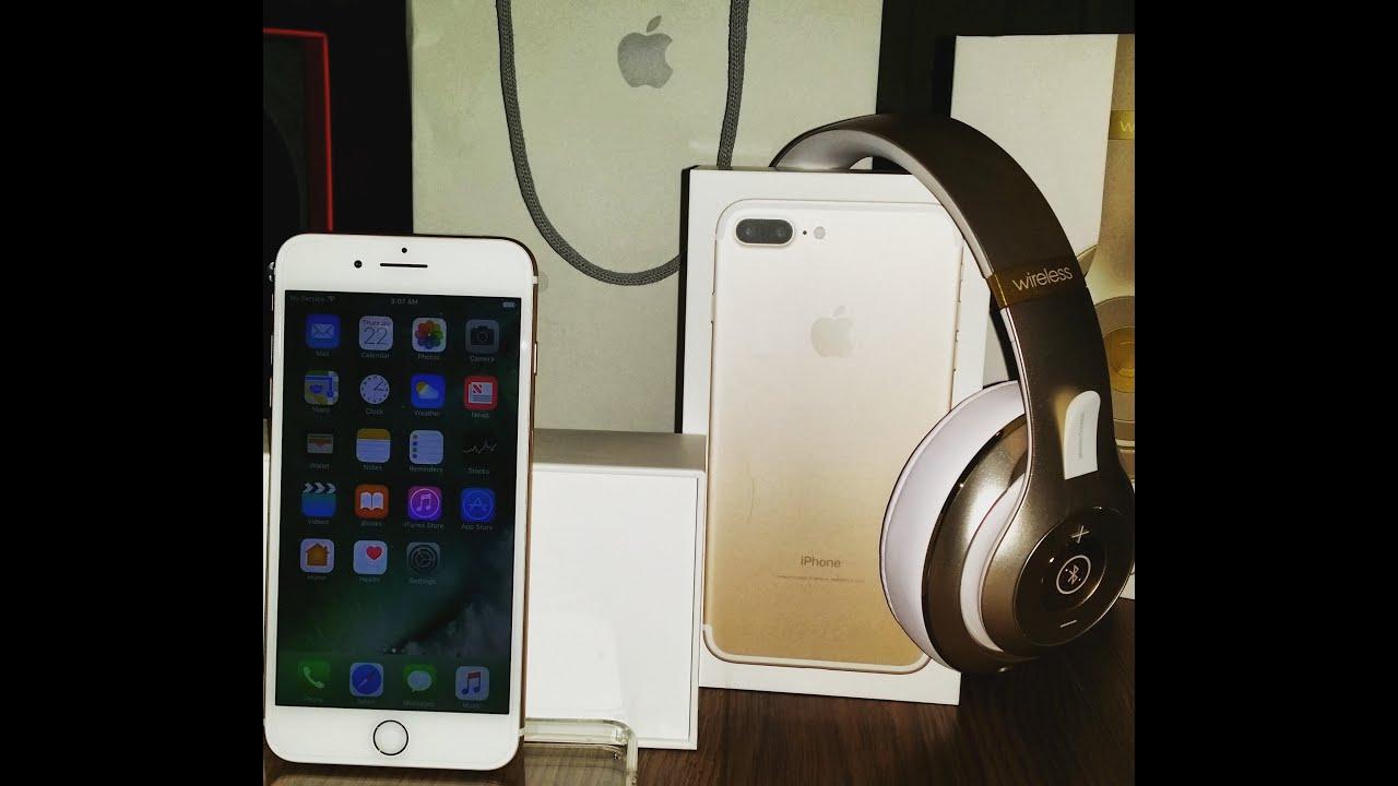 NEW APPLE IPHONE 7 PLUS UNBOXING WITH BEATS STUDIO ...