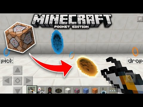 How To Make A PORTAL GUN In MCPE Using Command Blocks! NO MODS! Minecraft PE