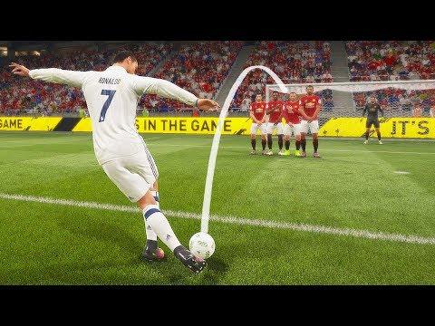 FIFA 18 КАК ЗАБИВАТЬ РАБОНОЙ СО ШТРАФНОГО   Rabona Free Kick Tutorial
