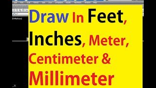 How to Draw a Line in Feet & Inches or Meter & mm By Using the Autocad Basic LINE Command - Tutorial