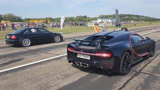 BEST of Drag Racing! 1300HP Audi S4, Bugatti Chiron, 725HP BMW 325i, 735HP VW GOLF 2 R32 TURBO..