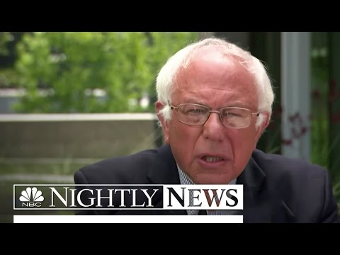 Bernie Sanders Remains Defiant in Interview With Lester Holt (Exclusive) | NBC Nightly News