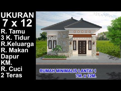 Desain Rumah Minimalis Ukuran 7x14  modern house 7x12 3 k tidur desain rumah minimalis lantai