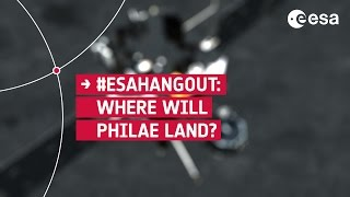 ESAHangout: Where will Philae land?