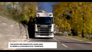 "Scania recibe el ""Green Truck"" por 5to año consecutivo"