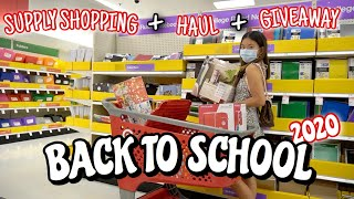 BACK TO SCHOOL SUPPLY SHOPPING + HAUL + GIVEAWAY 2020