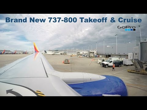 Brand New 737-800 Taxi, Takeoff, & Cruise from Chicago-Midway :: Southwest Airlines