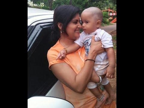 Azhagu Serial Actress Sudha (Sruthi Raj) Funny moments with baby