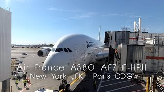 FLIGHT REPORT - Air France Airbus A380, New York JFK to Paris CDG, AF7 Upper deck economy class