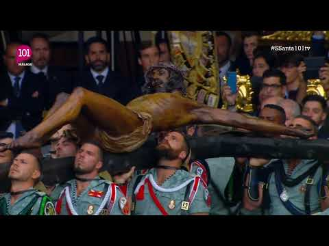 Semana Santa 2019 Málaga | Traslado del Cristo de la Buena Muerte a manos de la Legión |