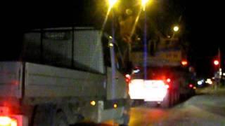 Gabaryt transport ponadnormatywny Volvo FH Transport maszyny budowlanej
