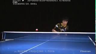 超繊細な技術がそこに!プロ卓球選手のプレーをスーパースローで見てみた