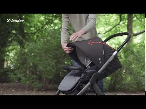 Детская коляска X-Pulse Evening Grey. Видео №4