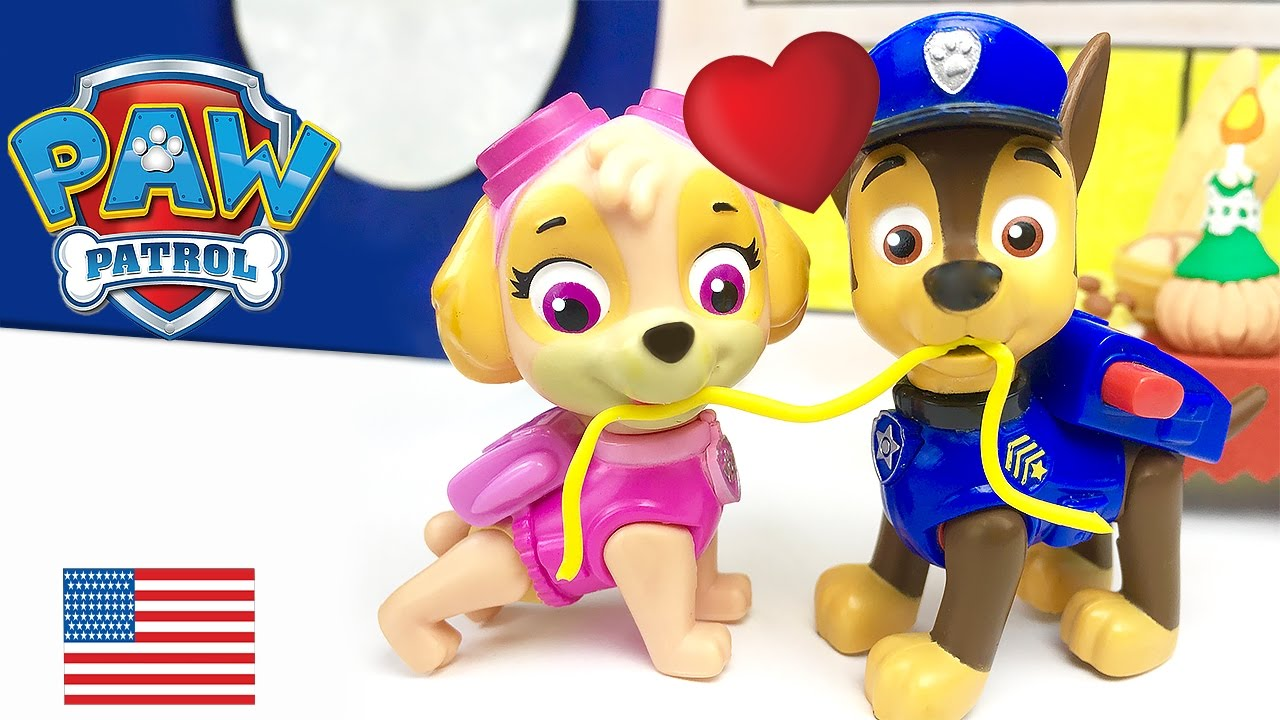 Paw Patrol Chase And Skye Kiss Lady And The Tramp They Want To Get Married Full Episode In English Youtube
