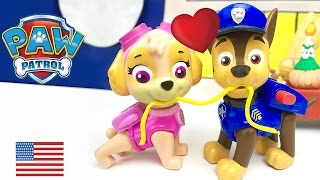 Paw Patrol Chase and Skye Kiss Lady and the Tramp they want to get married Full episode in English