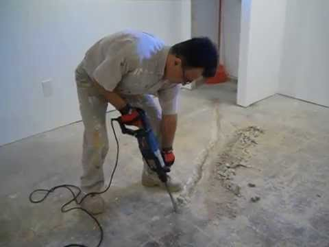 Repair Cracks And Water Leaks In Basement Floor Part 1