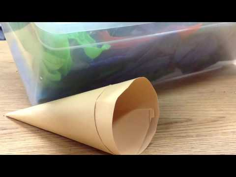How to make a paper ice cream cone