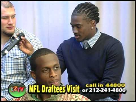 2013 NFL Draft Prospects Visit The Zone at Kravis Children's Hospital
