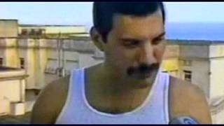 Freddie Mercury On The Roof Of The Copacabana Palace