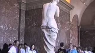 Visiting the Venus De Milo at the Lourve. 7/1/94.