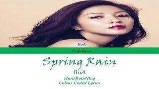 BoA(보아)  - Spring Rain(봄비) Colour Coded Lyrics (Han/Rom/Eng) by Taefiedlyrics
